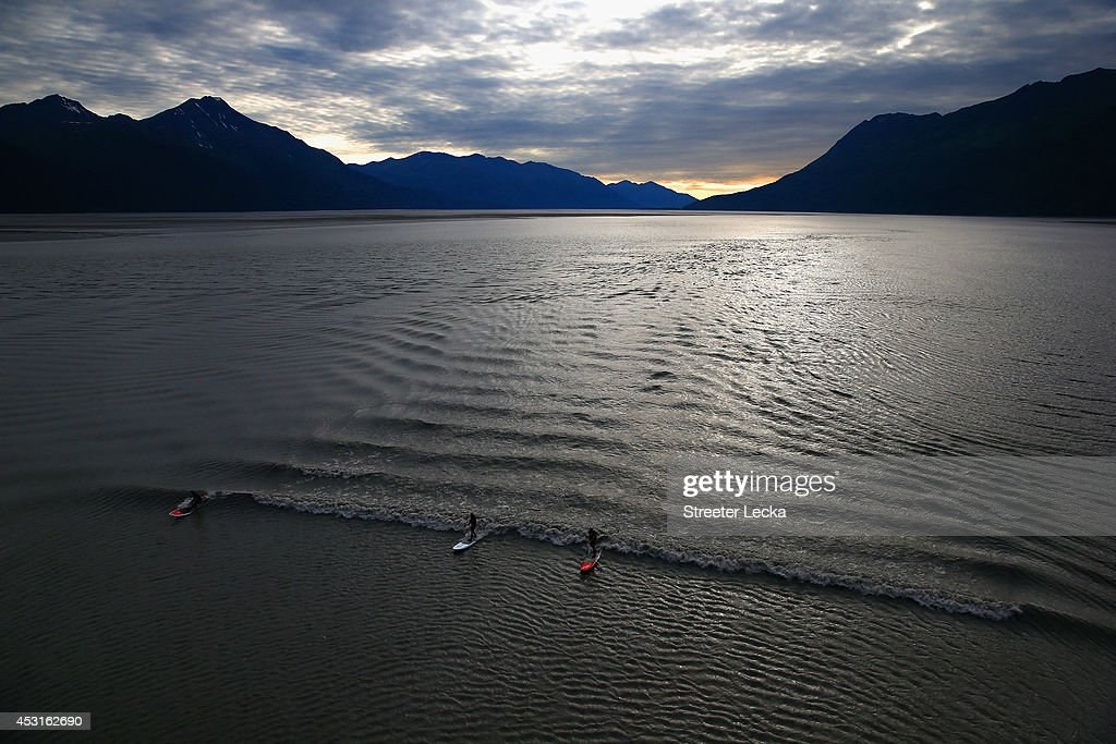 Feature - Bore Tide Surfing in Alaska : News Photo