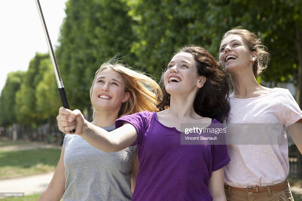 Group of teenagers making a selfie : Stock Photo