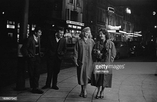 Group of teenagers out on a night out, Liverpool, 8th March 1957. Original publication: Picture Post - 8859 - The Truth About Teenagers - pub. 25th...