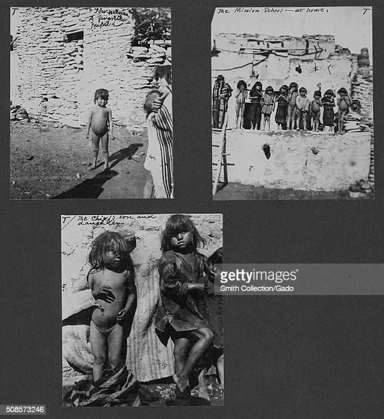 Group of three photographs from Frank Teeter top left picture dipicts a small naked child and is marked Towwiman a Favorite Pupil top right picture...