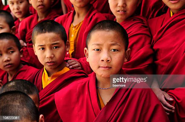 Group of Tibetan Children Buddhist Monks