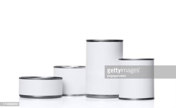Group of tin cans