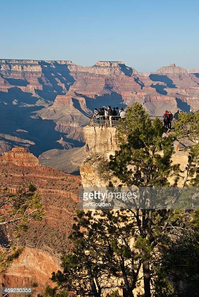 Tourists Watch the Sunset from Mather Point