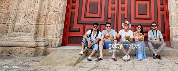 Group of tourists in Cartagena