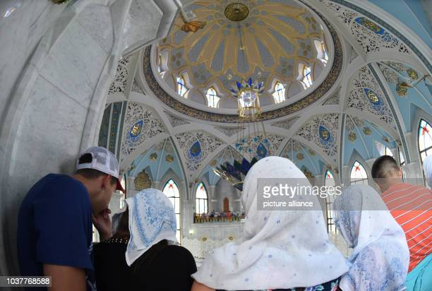 A group of tourists visit the Qol Sharif mosque in the city of Kazan Russia 11 July 2015 Photo Marcus Brandt/dpa | usage worldwide