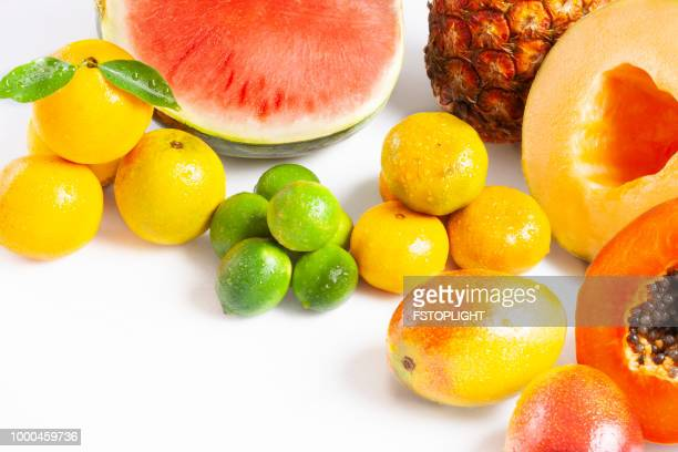 Group of tropical fruit