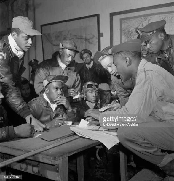 Group of Tuskegee Airmen Ramitelli Italy Tony Frissell March 1945