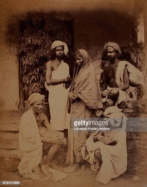Group of Untouchables, India, circa 1890.