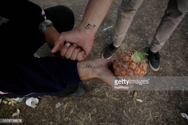 A group of Venezuelans migrants live in makeshift camp in Carcelen Quito Ecuador on August 19 2018 The increase in the migratory flow of Venezuelans...