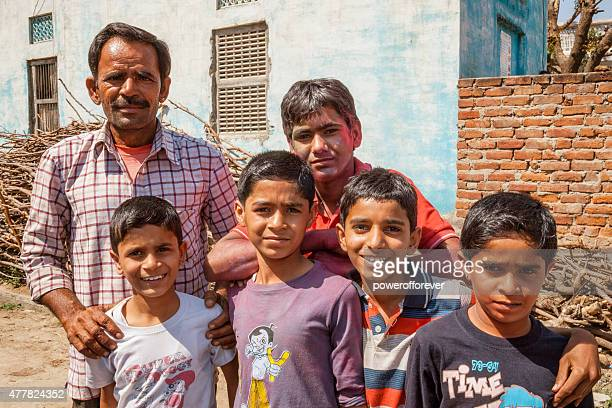 Group of Villagers in Salapura Village, Rajasthan, India