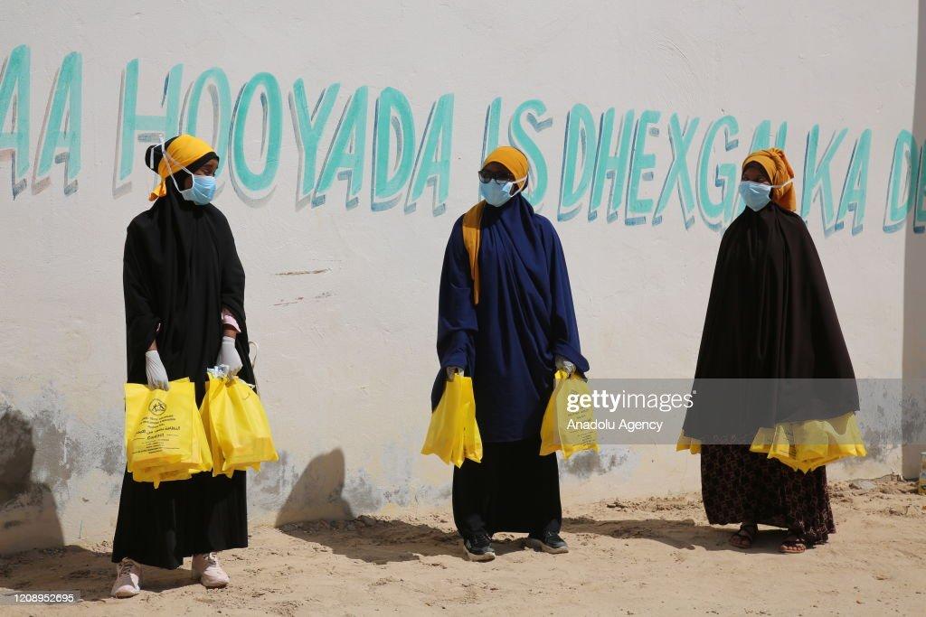 Coronavirus precautions in Somalia : ニュース写真