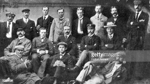 A group of war correspondents in South Africa during the Boer War Amongst them is a young Winston Churchill middle row second from left reporting for...
