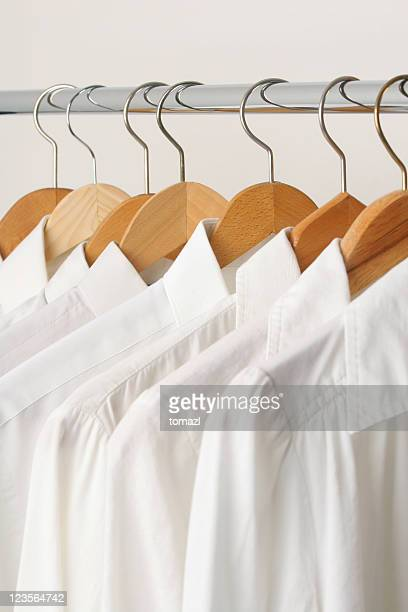 group of white shirts - rack stock pictures, royalty-free photos & images