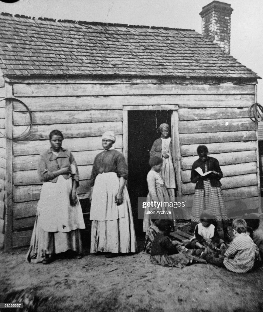 Presumed Slaves And Their Shack : News Photo