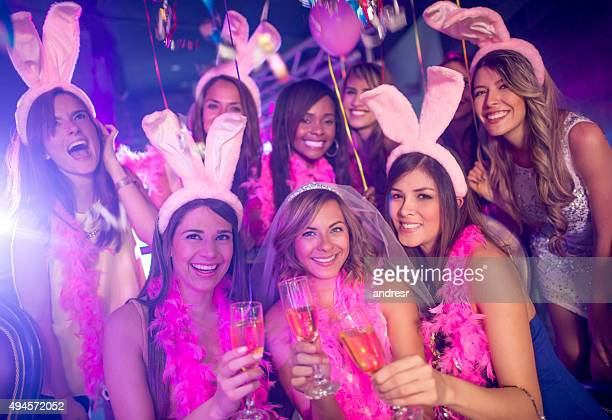 Group of women at a bachelorette party