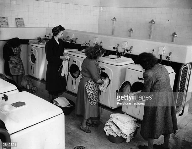 A group of women at a laundrette