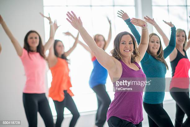 Group of Women at Dance Fitness Class