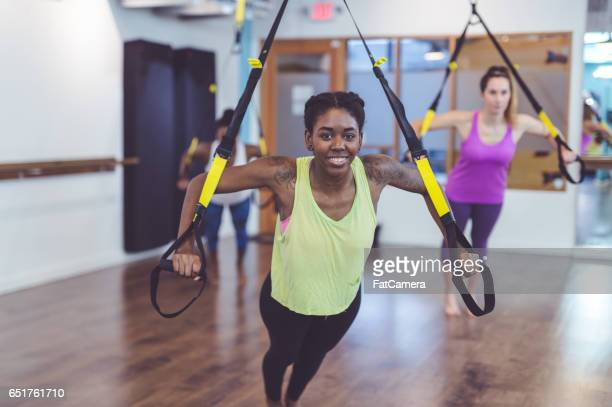 group of women doing workout - hair conditioner stock photos and pictures