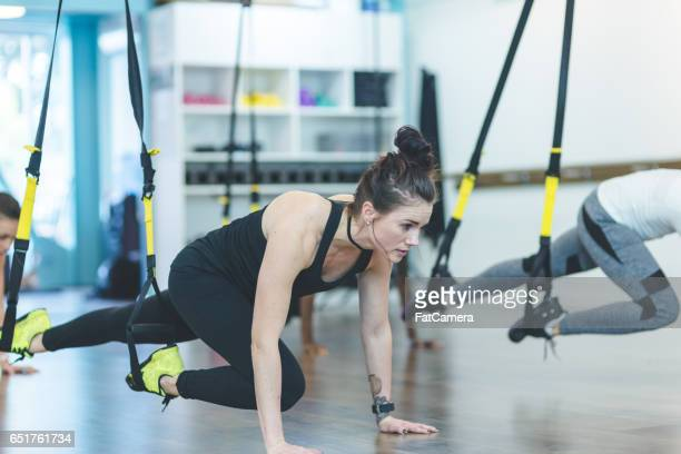group of women doing workout - isometric projection stock photos and pictures