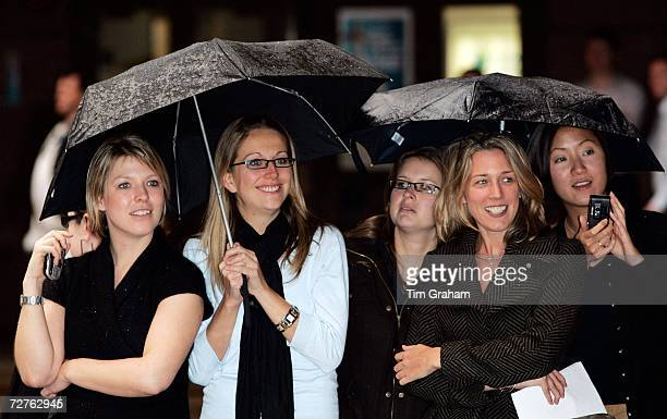 Group of women gather to see Prince William, patron of the Tusk Trust, visit the ICAP Charity Day at their head office on December 7, 2006 in London,...