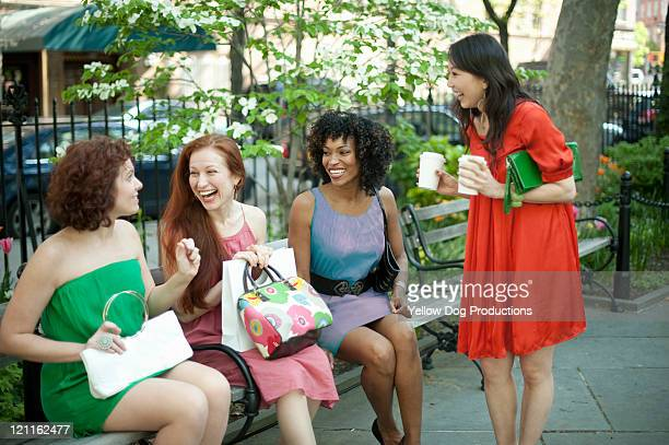 Group of Women in Urban Park