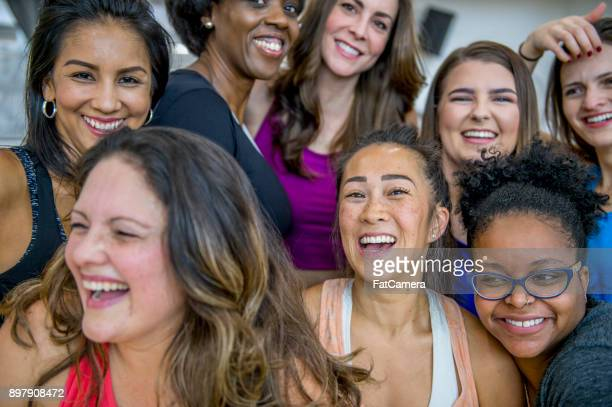 group of women - image montage stock pictures, royalty-free photos & images