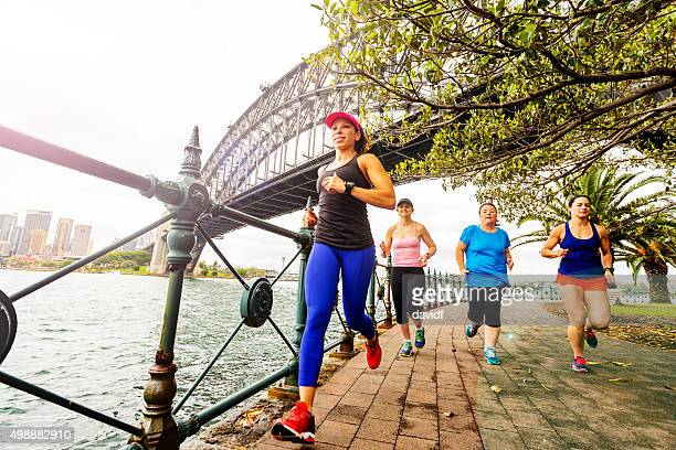 Group of Women Running by Sydney Harbour