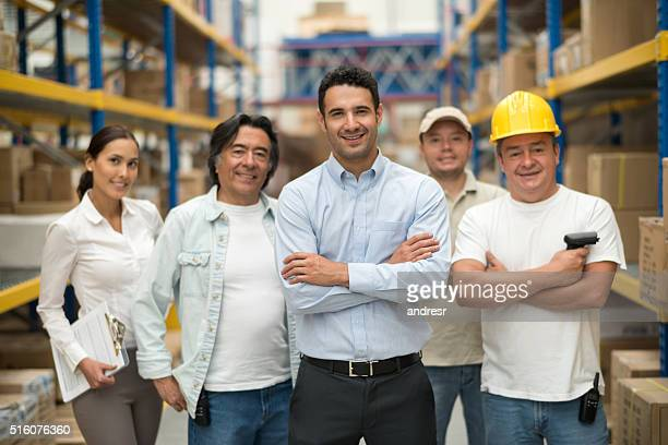 Group of workers at a warehouse