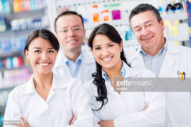 Group of workers at the drugstore