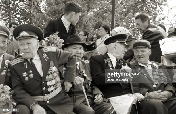 Group of World War II Veterans during the celebration of Victory Day