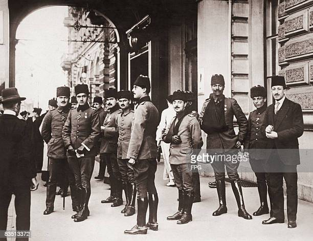 Group of wounded Ottoman Turkish soldiers in Berlin, Germany, circa 1916.