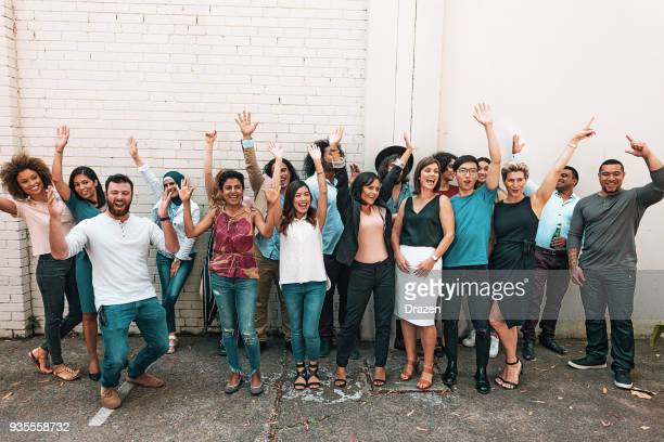 group of young and mature multi ethnic people - work party stock pictures, royalty-free photos & images