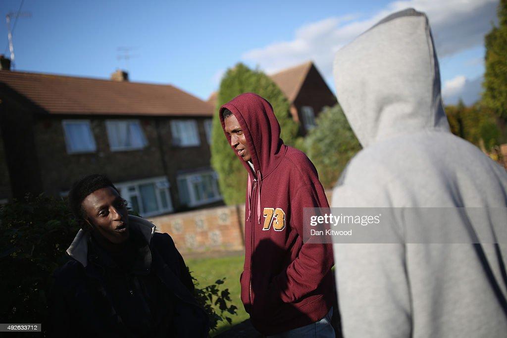 Asylum Seekers Arrive In A Greater London Village : News Photo