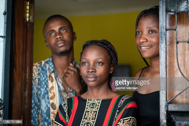 group of young black people together - east africa stock pictures, royalty-free photos & images