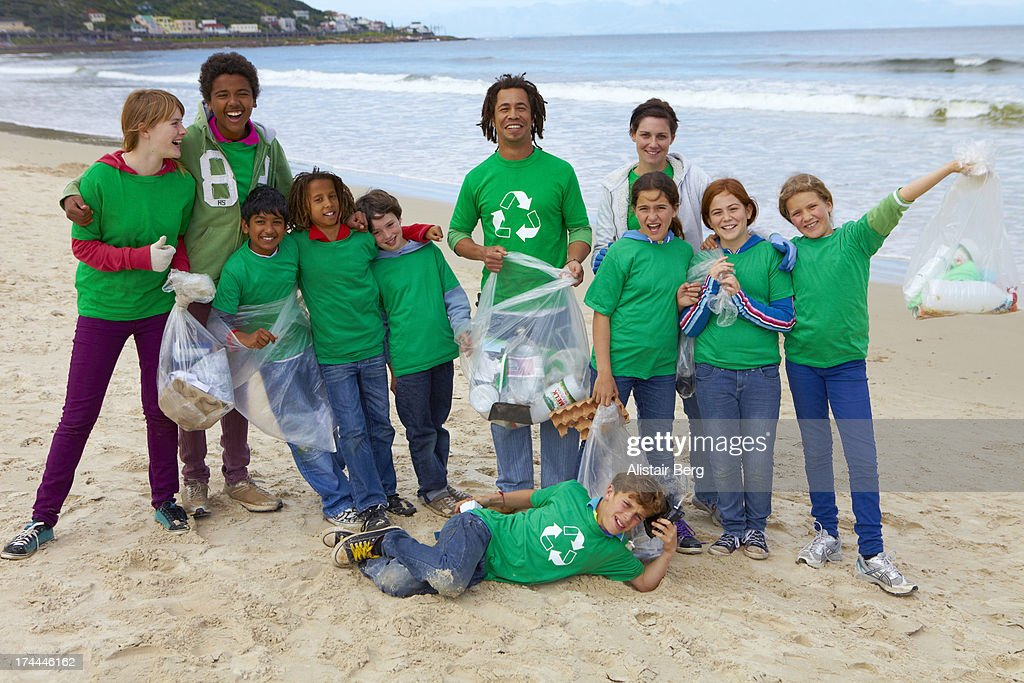 Group of young community volunteers : Stock Photo