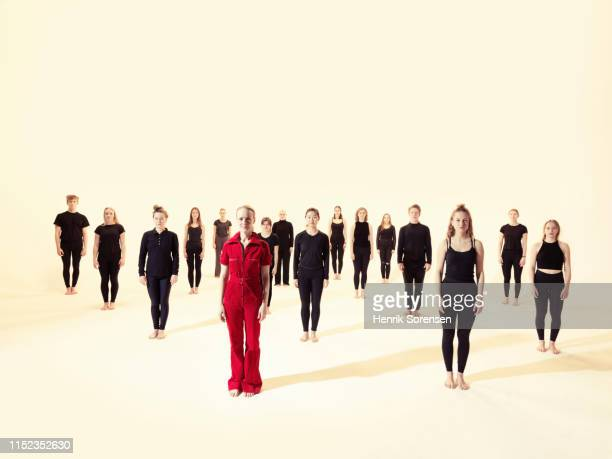group of young dancers - dance troupe stock photos and pictures