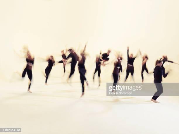 group of young dancers - dance troupe bildbanksfoton och bilder