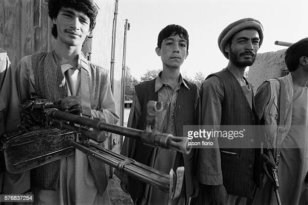 Group of young Mujaheedin on the frontline