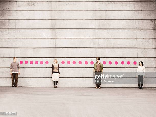 a group of young people connected with dots - spotted stock pictures, royalty-free photos & images