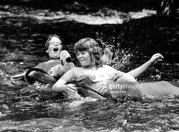 A group of young people from the 1st Christian Church in Junction City Kansas came to Lyons to float down the North St Vrain in the water in front...