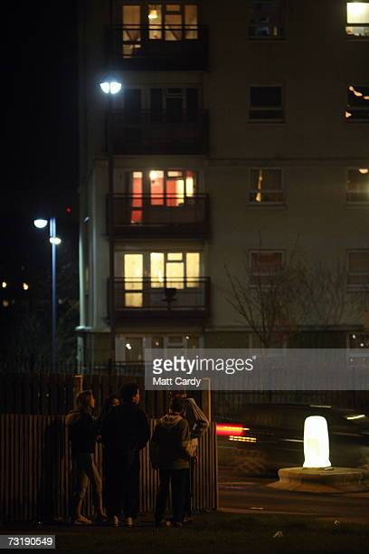 A group of young people gather beneath a tower block on the Hartcliffe estate February 2 in Bristol England Bristol City Council is one of 40 local...