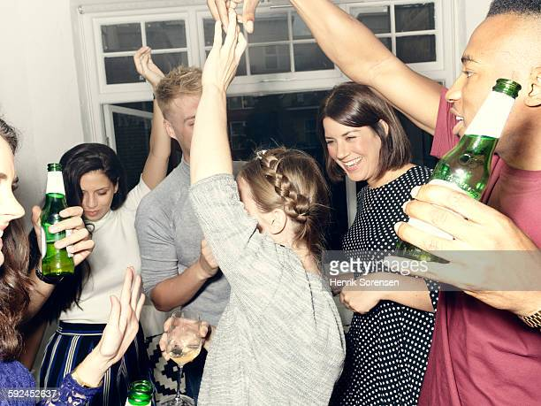 group of young people having a party - party stock pictures, royalty-free photos & images