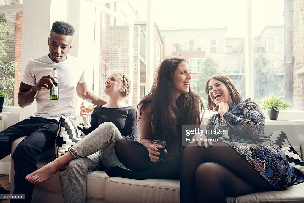 group of young people having a party : Stock Photo
