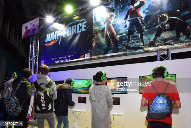 L´HOSPITALET BARCELONA SPAIN A group of young people seen playing video games during the Barcelona Games World Fair