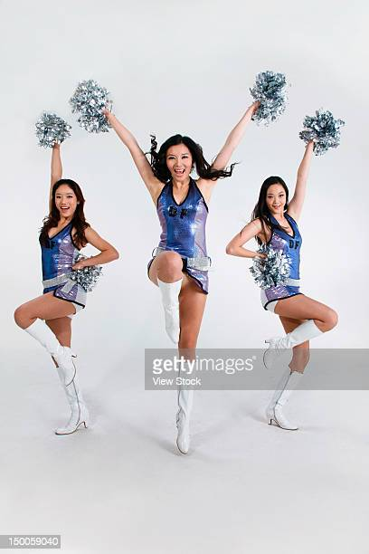 group of young women cheerleaders - asian cheerleaders stock photos and pictures