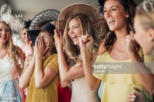 group of young women - hat stock pictures, royalty-free photos & images