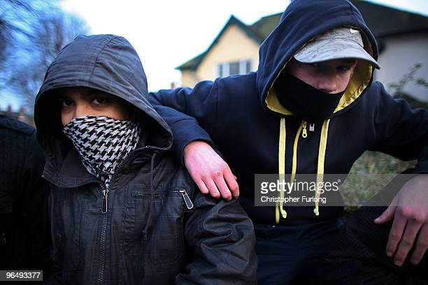 Group of youths hang around a street corner on January 26, 2010 in Walsall, United Kingdom. As the UK gears up for one of the most hotly contested...