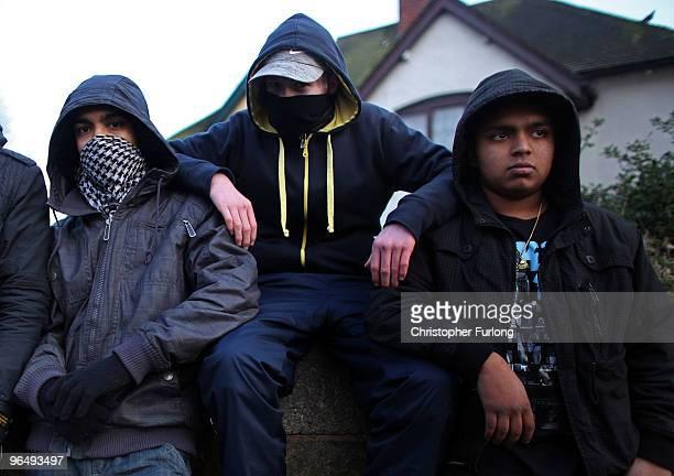 A group of youths hang around a street corner on January 26 2010 in Walsall United Kingdom As the UK gears up for one of the most hotly contested...