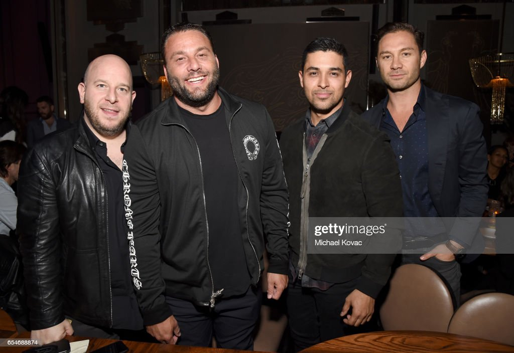 Group Partner Noah Tepperberg, David Grutman, actor Wilmer Valderrama and TAO Group Partner Jason Strauss attend day two of TAO, Beauty & Essex, Avenue and Luchini LA Grand Opening on March 17, 2017 in Los Angeles, California.