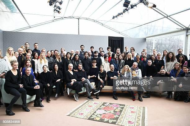 A group photo at 'Der Berliner Mode Salon' led by Christiane Arp during the MercedesBenz Fashion Week Berlin Autumn/Winter 2016 at Kronprinzenpalais...